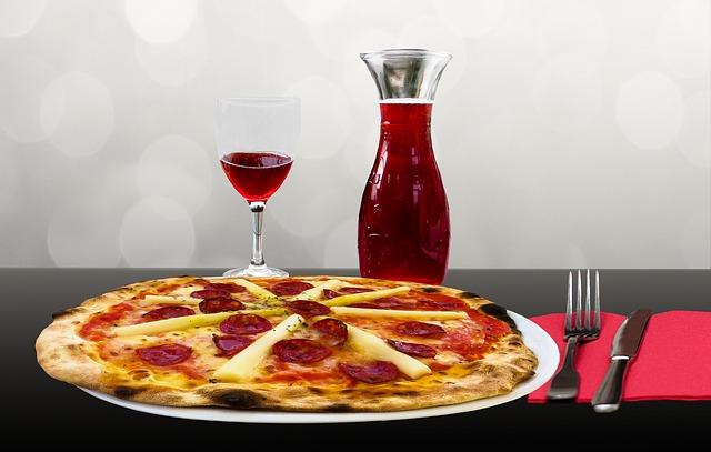 pizza a víno
